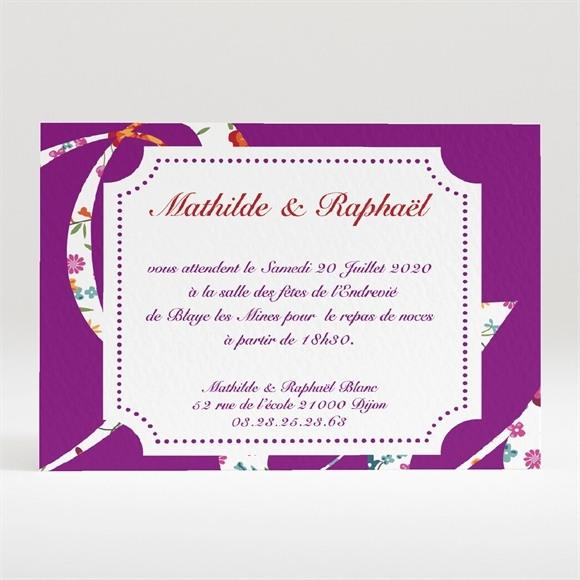 Carton d'invitation mariage Oui en fleurs photos réf.N120191