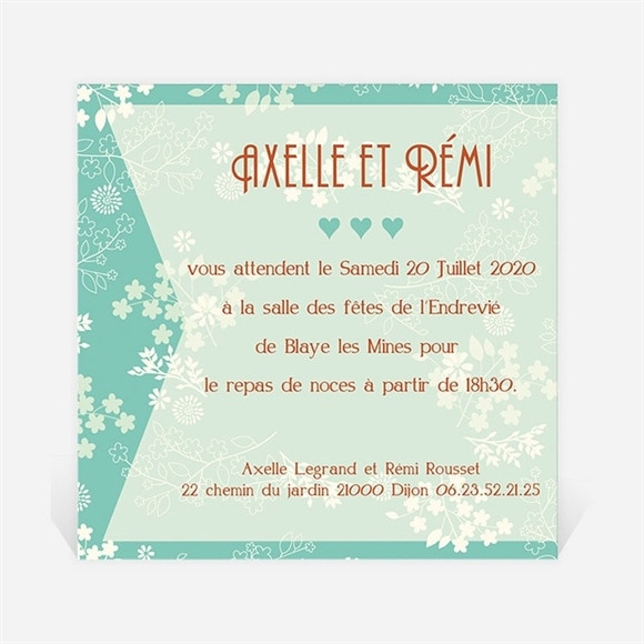 Carton d'invitation mariage Lui et Moi réf.N300148