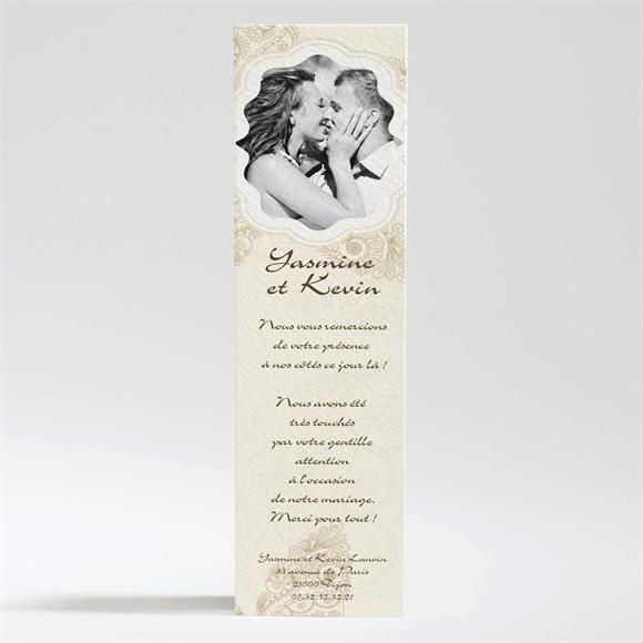Remerciement mariage Romantique byzantin réf.N200227