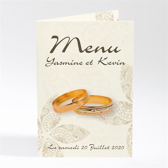 Menu mariage Romantique byzantin réf.N401220