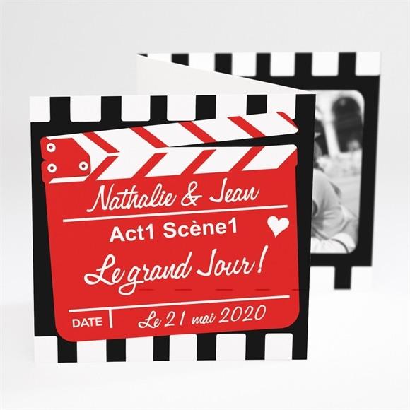 Faire-part mariage Notre Film réf.N81013