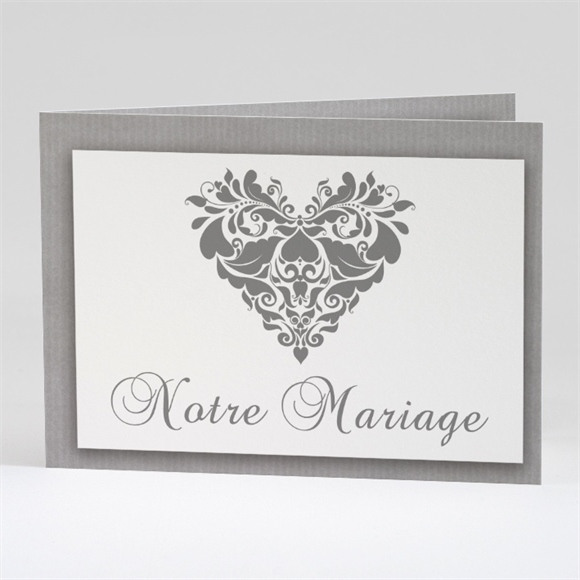 Faire-part mariage Coeur floral réf.N42122