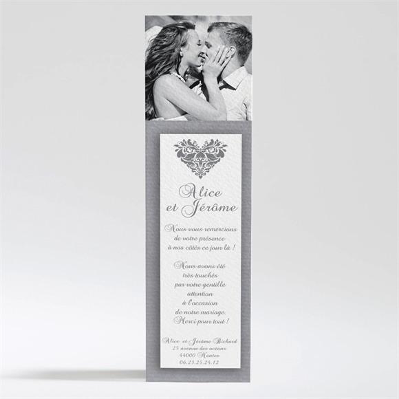 Remerciement mariage Coeur floral réf.N200224