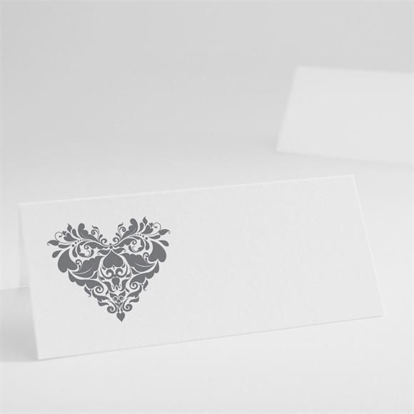 Marque-place mariage Coeur floral réf.N440179