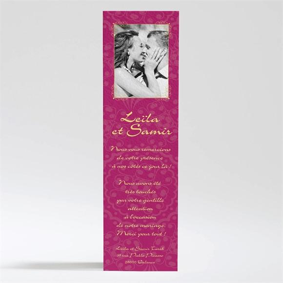 Remerciement mariage Noir et violet réf.N200228
