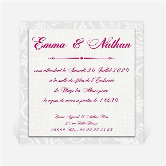 Carton d'invitation mariage Gros noeud réf.N300150