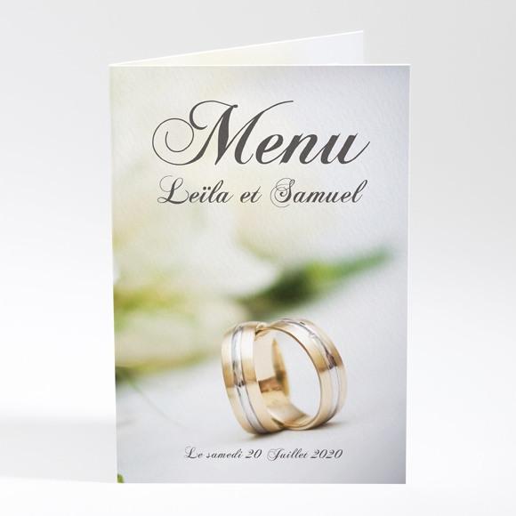 Menu mariage Nos alliances réf.N401219