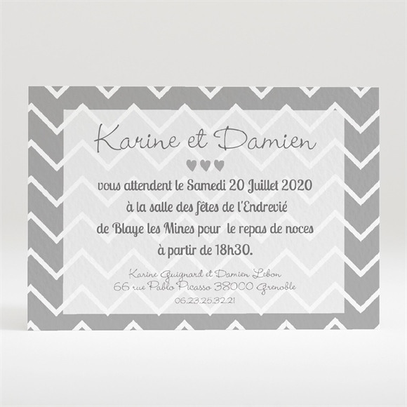Carton d'invitation mariage Save The Date réf.N120193