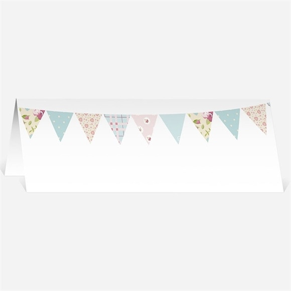 Marque-place mariage Médaillon et banderoles réf.N440184