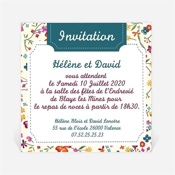 Carton d'invitation mariage Liberty fruité réf.N300155