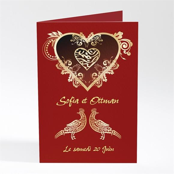 Menu mariage Rouge et or réf.N401228