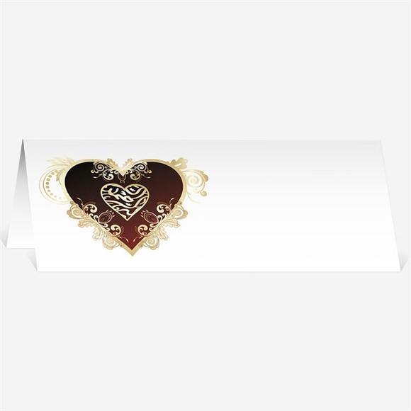 Marque-place mariage Rouge et or réf.N440190