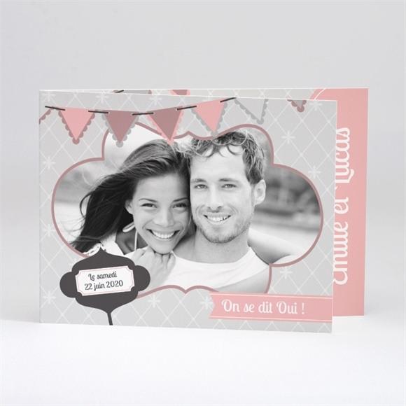 Faire-part mariage Festif et vintage réf.N51115