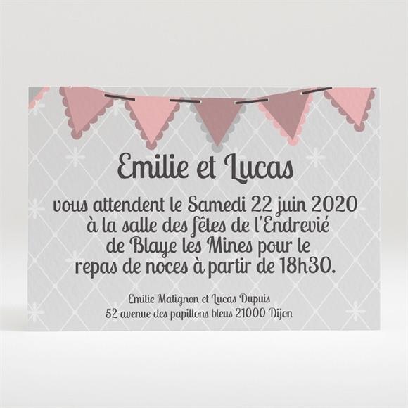 Carton d'invitation mariage Festif et vintage réf.N120194
