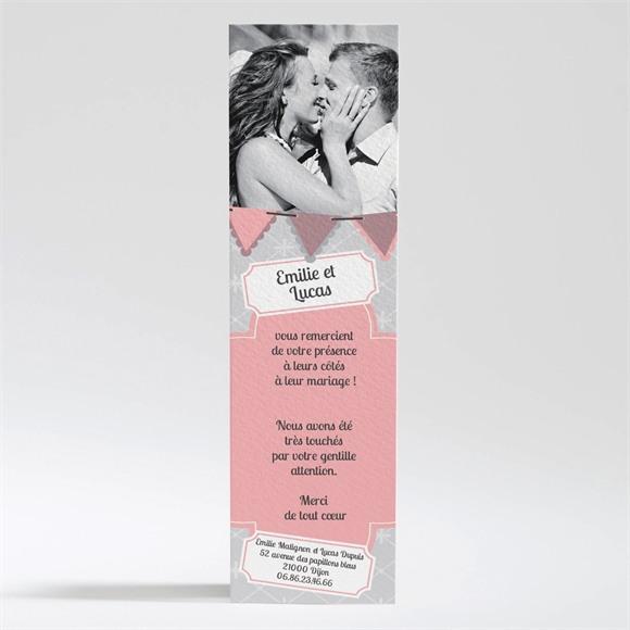 Remerciement mariage Festif et vintage réf.N200237