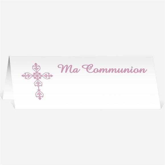Marque-place communion Mon cadre rose réf.N440210