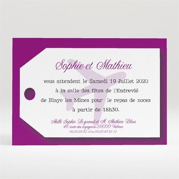 Carton d'invitation mariage Air Union réf.N120195