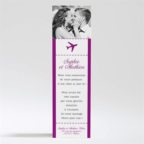 Remerciement mariage Air Union réf.N200238