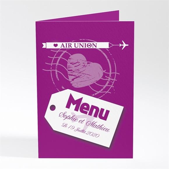 Menu mariage Air Union réf.N401251