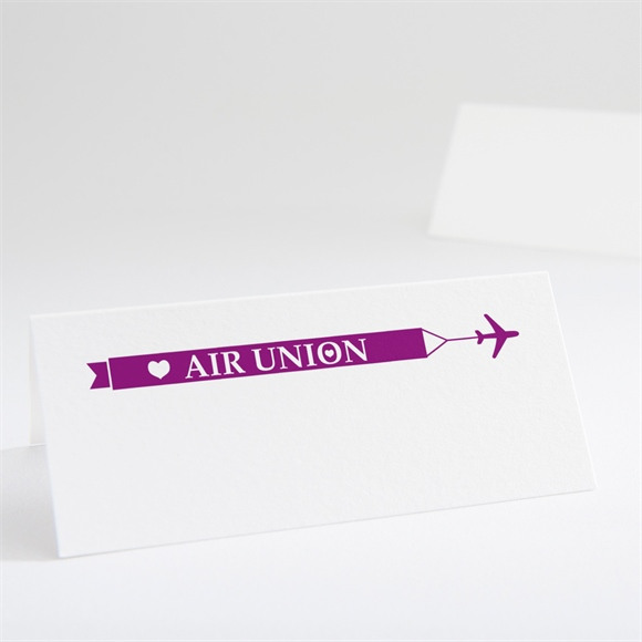 Marque-place mariage Air Union réf.N440213