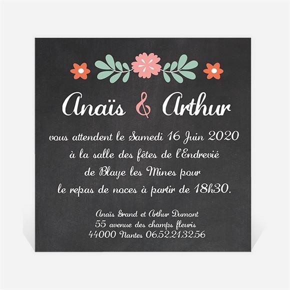Carton d'invitation mariage Couronne vintage réf.N300159