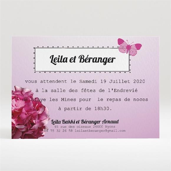 Carton d'invitation mariage Graphique violet réf.N120197