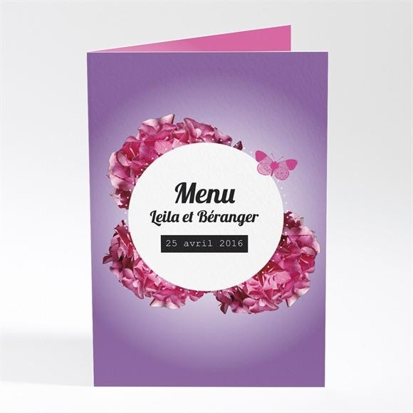Menu mariage Graphique violet réf.N401253