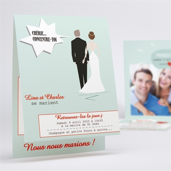 Faire-part mariage Illustrations originales photo réf.N50135