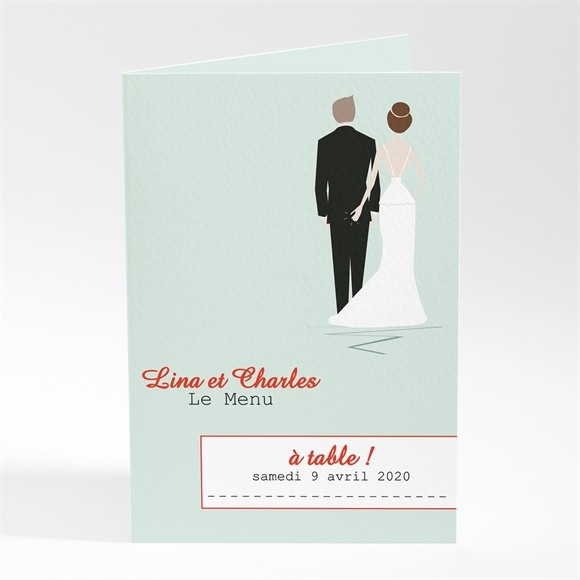 Menu mariage Illustrations originales photo réf.N401254