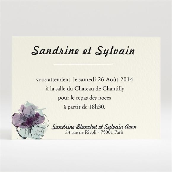 Carton d'invitation mariage Farandole fleurie réf.N120200