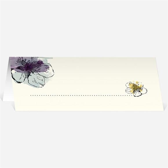 Marque-place mariage Farandole fleurie réf.N440218