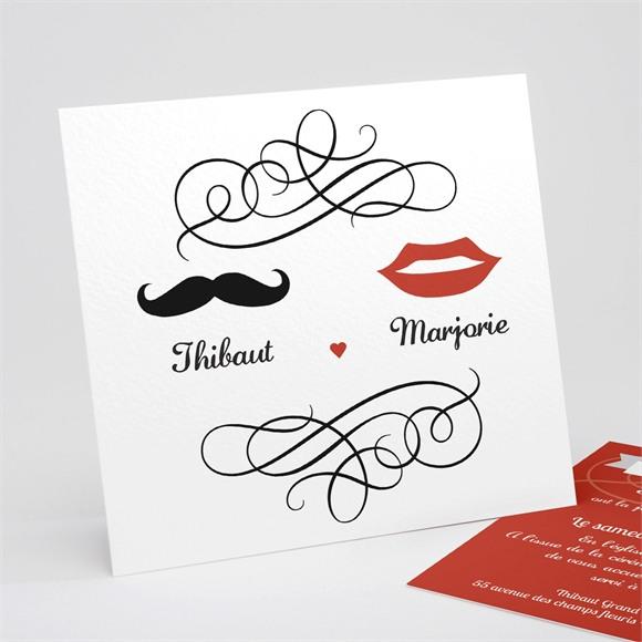 Faire-part mariage Elle & Lui Symboles réf.N31152