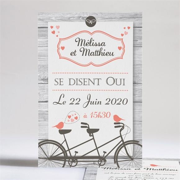 Faire-part mariage Oiseaux vintage réf.N24135
