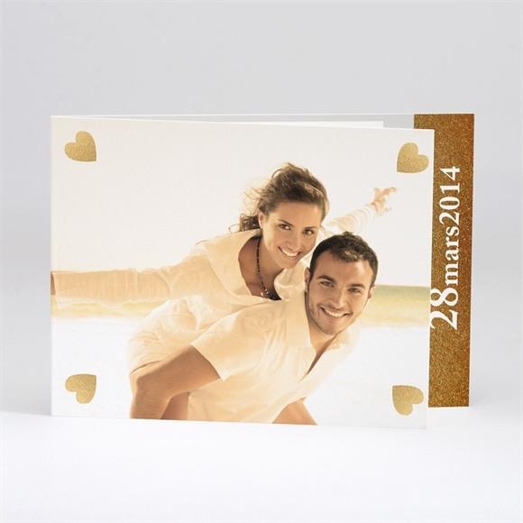 Faire-part mariage Coeurs en coins réf.N51116