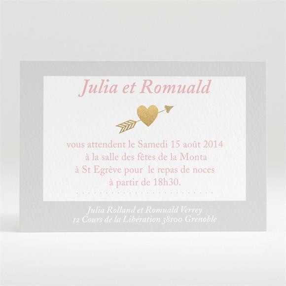 Carton d'invitation mariage Coeurs en coins réf.N120201