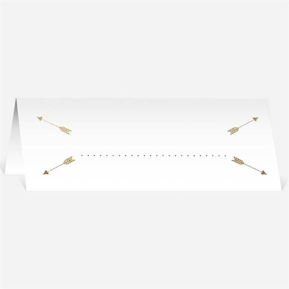 Marque-place mariage Coeurs en coins réf.N440221