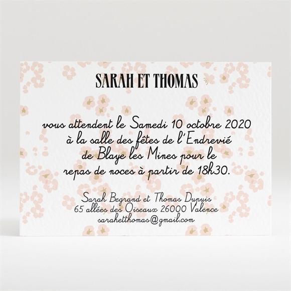 Carton d'invitation mariage Notre Petit Manège réf.N120202