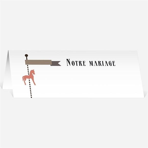 Marque-place mariage Notre Petit Manège réf.N440222