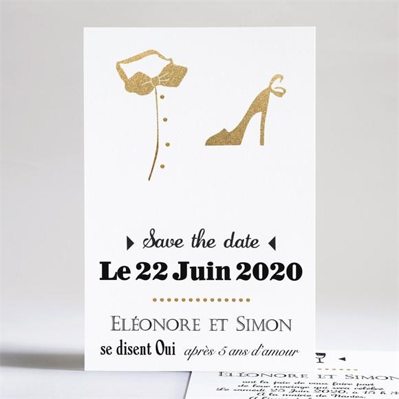 Faire-part mariage Smoking et Talons réf.N24136