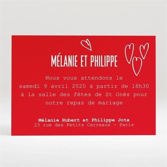 Carton d'invitation mariage Photo en forme de coeur réf.N120206