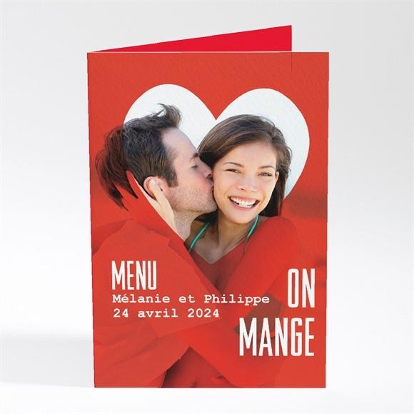 Menu mariage Photo en forme de coeur réf.N401267