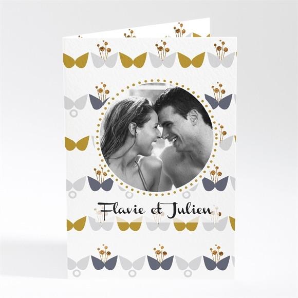 Faire-part mariage Motifs Papillon vintage réf.N401268