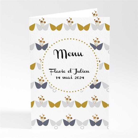 Menu mariage Motifs Papillon vintage réf.N401269