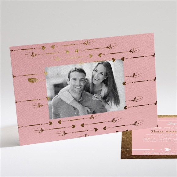 Faire-part mariage Invitation photo vintage réf.N14125