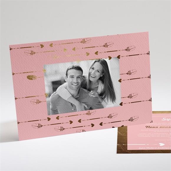 Faire-part mariage Invitation photo vintage réf.N14125