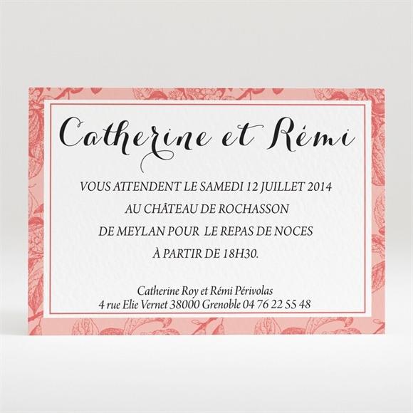 Carton d'invitation mariage Vintage et élégant réf.N120210