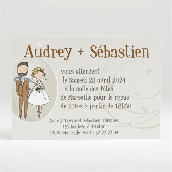 Carton d'invitation mariage Je lui passe la bague au doigt réf.N120212