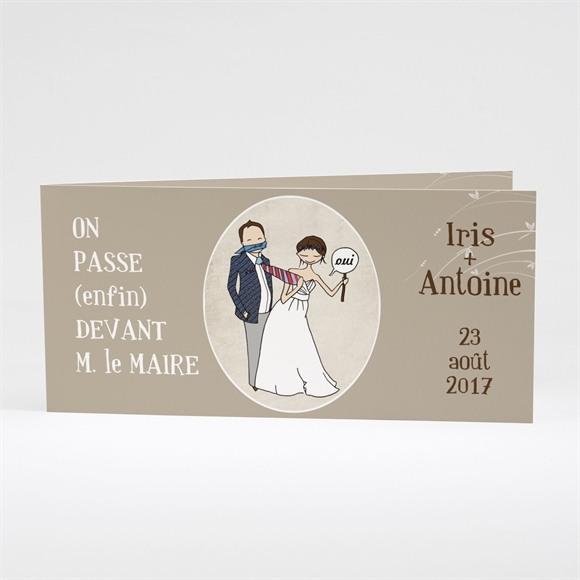 Faire-part mariage Illustrations Humour original réf.N43131
