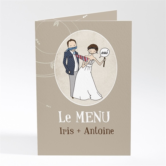 Menu mariage Illustrations Humour original réf.N401284