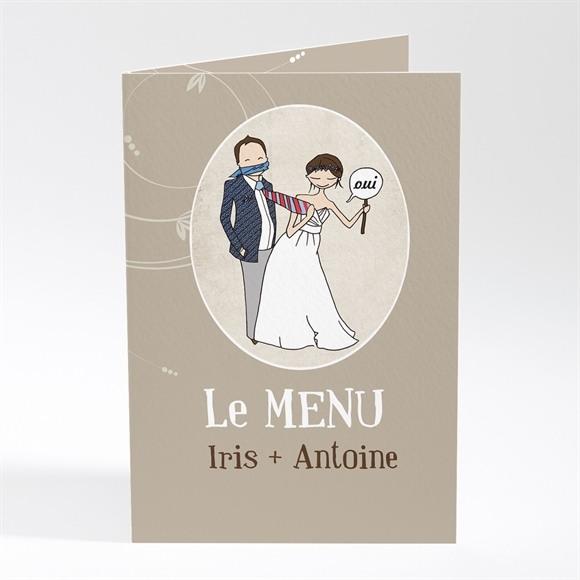 Menu mariage Illustrations Humour original réf.N401284